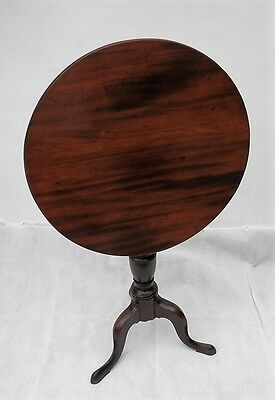 Antique YEW TILT TOP TABLE Country Tripod Table c. 1755 style