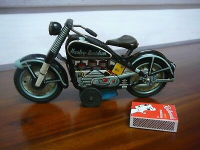 Vintage 1950's Made In Japan Tin Toy Harley Davidson Motorbike *no Box*