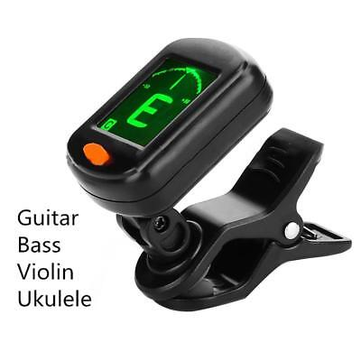 LED Clip-on Electronic Digital Guitar Tuner Chromatic Bass Violin Ukulele UK