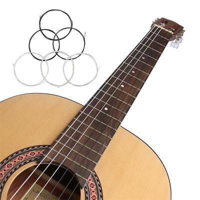 6PCS Guitar Strings Silver&Black Nylon String Set for Classical Acoustic Guitar