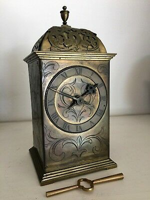 ** Excellent Quality Rare Heavy Brass French Lantern Style 8 Day Clock **