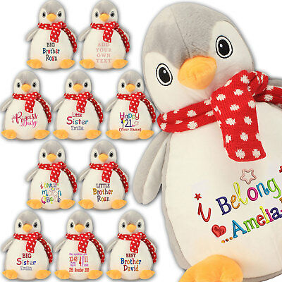 Large Penguin 45cm Personalised Soft Plush Penguin Teddy Embroidered & your Name