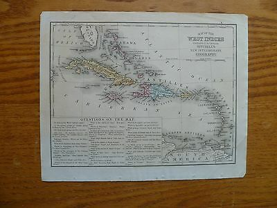 1870s West Indies Map-Mitchell's New Intermediate Geography