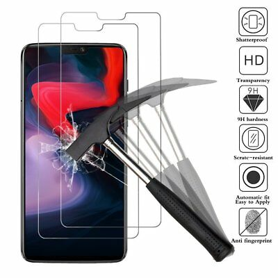 (2 Pack) For OnePlus 6 Tempered Glass Screen Protector