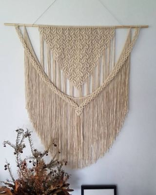 Sale Macrame Wall Hanging 115 X 115 Cm Art Curtain Tapestry Wedding