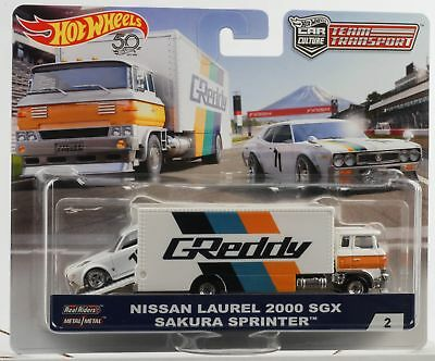 1:64 shop team transport Nissan Laurel 2000 SGX Sakura sprinter Hot wheels