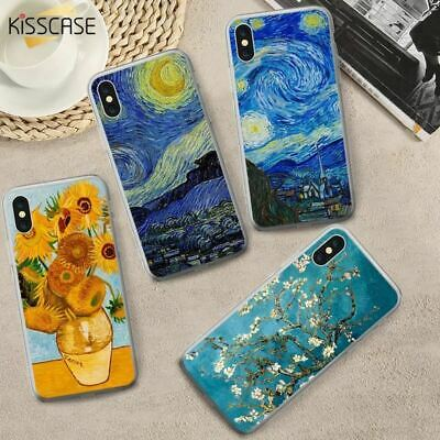 Oil Painting Starry Night Case Soft TPU Case Samsung Galaxy Note 9 S9 S8 Plus