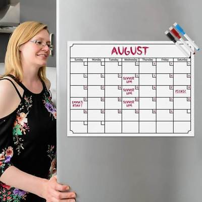A4 DAYS Planner Monthly Calendar Whiteboard Flexible Fridge Magnetic 3FreePens