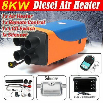 12V 8KW Diesel Air Heater 4 Holes Air Parking Heater LCD&Silencer&Remote Control
