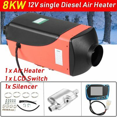 12V 8kw single Diesel Air Parking Heater Air Heating LCD Switch with Silencer DS