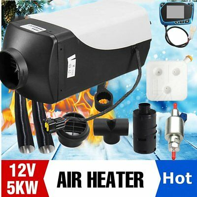 5000W 12v Auto Diesel Parking Car Heater Air Fuel Heating Single LCD+Silencer