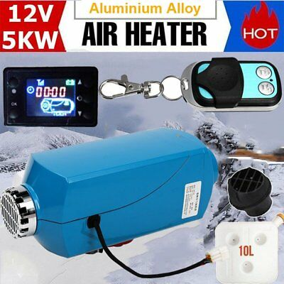 NEW 12V 5KW 15L LCD Diesel Air Heater Tank Digital Thermostat Remote Control