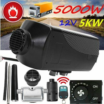 5KW 12V Auto Diesel Air Heater 10L Tank Knob Remote For Truck Boat Car Trailer P