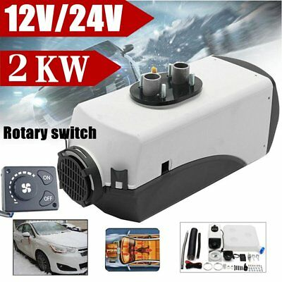 12V 2KW Air Diesel Heater Tank,Vent,Duct For Trucks,Boats,Bus + Knob Switch FR