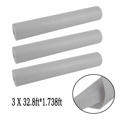 3pcs 32.8ft*1.74ft Wallpaper Gray Modern Silver Plain Textured Wall Coverings MY
