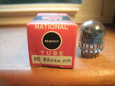 National Readout Nixie Tube Type Nl 6844A 7526 Nos / Nib Free Shipping