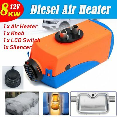 12V 8000W 8KW Diesel Air Heater 4 Holes Air Parking Heater Knob with Silencer DS