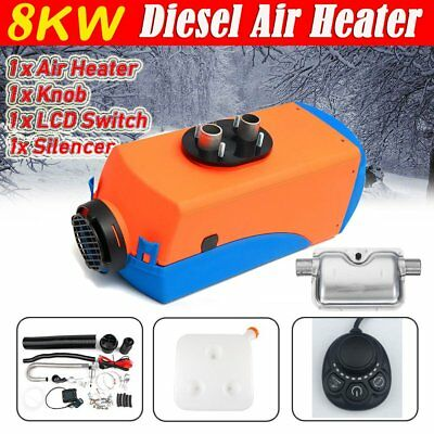 12V 8KW 10L Diesel Air Heater 4 Holes Air Parking Heater Knob with Silencer NEW