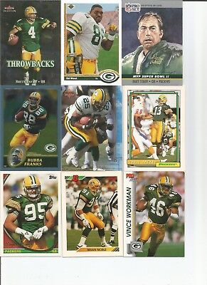 1970-2004 Green Bay Packers 225+ Card Lot
