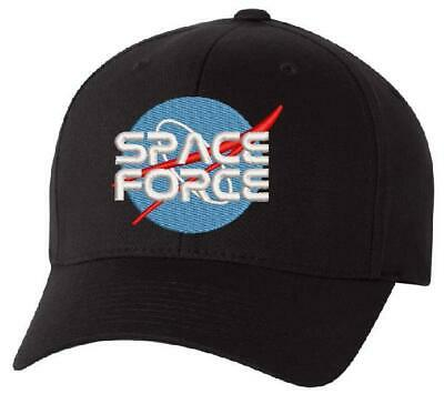 Donald Trump Space Force Military ADJ or Flex Fit Hat United States Space Force