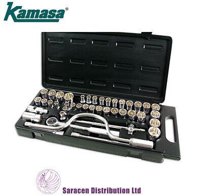 "Kamasa 42Pc 1/2""Dr Socket Set Metric, Imperial, & Whitworth - Ss4849"