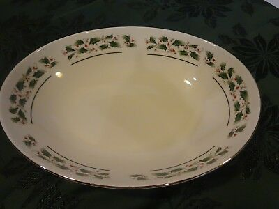 Fine China of Japan - Holly Holiday - Oval Serving Vegetable Bowl
