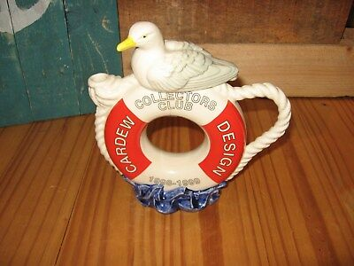 Paul Cardew Collectors Club Teapot, Lifebelt And Seagull