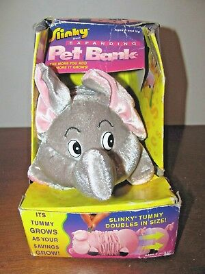 Elephant Slinky Expanding Bank~The More You Add The More It Grows~New