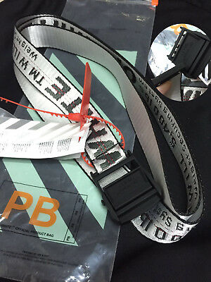 2c7a282cacb8 NWT Off - White Silver Industrial Tie Down Belt Virgil Abloh Iron Buckle  200CM +