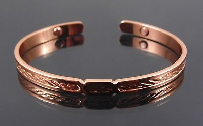 Magnetic Celtic Design Copper Bangle Bracelet. Relief Of Pain Since Roman Times!