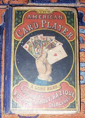 XRARE: 1866 The American Card Player early book with rules of poker Euchre Whist