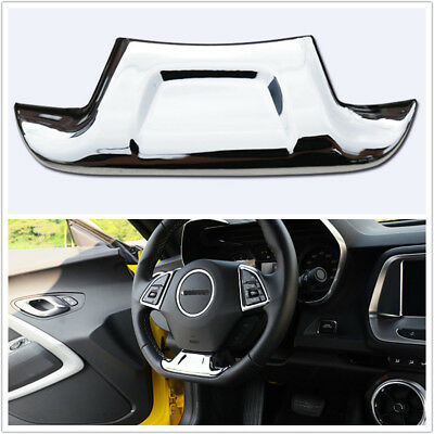 Chrome ABS Interior Steering Wheel Cover Trim For 2016 2017 Chevrolet Camaro A