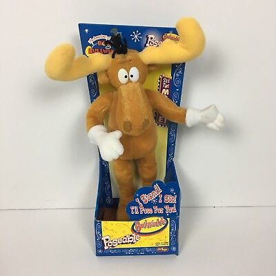 Vintage Adventures of Rocky and Bullwinkle: Poseable Bullwinkle New In Box