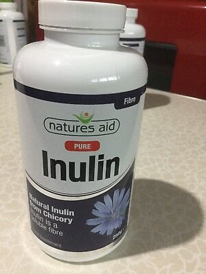 Natures Aid Inulin Powder, 250g Chicory Root, 100% Natural, Brand New