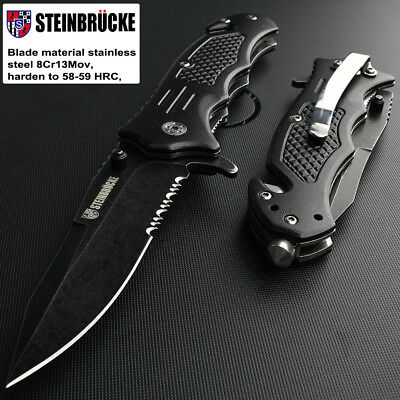 "8"" Stiletto Milano Tactical Spring Assisted Folding Knife Pocket Blade Open"