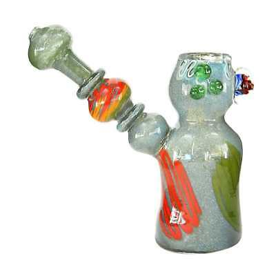 "4:20 Generic Label 5.5"" Rasta Marble Hand Pipe - Assorted Colors"