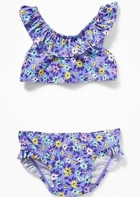 old navy baby girl two piece swim set, 18-24 months, NWT
