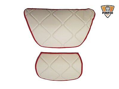 Daf 106xf 2 small dash mats ECO LEATHER, available smooth any color beige&red