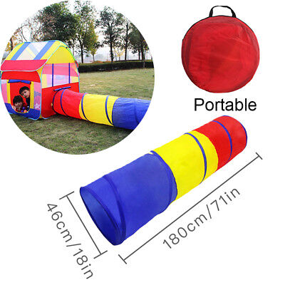 Folding Children Baby Ball Play Game Tent Tunnel Play In/Outdoor Toy Kids House