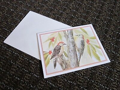 Red Bellied Woodpecker Card Blank Note NEW Mary Beth LoPiccolo Pretty FREE SHIP
