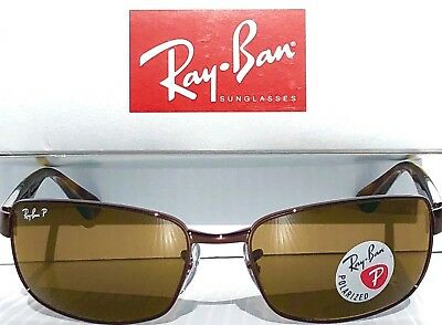 61d2468d58 NEW  Ray Ban Gunmetal Brown w POLARIZED Brown Lens Sunglass RB 3478 014 57
