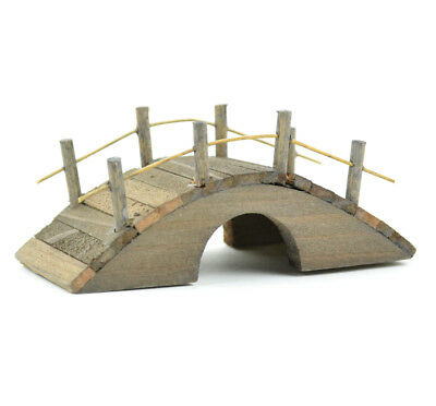 Miniature Dollhouse FAIRY GARDEN - Mini Wooden Bridge Brown - Accessories