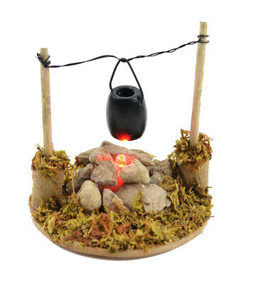Fairy Garden Christmas Miniature - Fire Pit With Cooking Pot