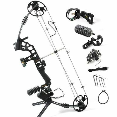 Black Dream Aluminum Alloy hunting Compound Bow With 20-70 lbs adjustable Draw W