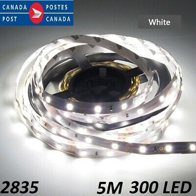 5M Cool White 300 Leds 2835 Flexible Led Strip Lights Home  DC12V Non Waterproof