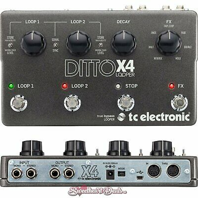 TC Electronic Ditto X4 - Looper Guitar Effect Pedal with USB and MIDI Sync