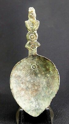 """Ancient Roman Bronze """"Evil Eye"""" Medical Spoon  c.100-400 AD. Found in England"""