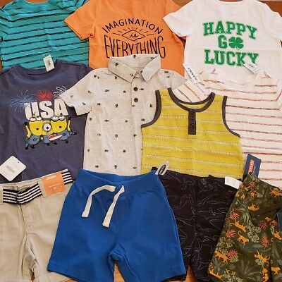Old Navy Boys 2T Short Sleeve Clothing Lot 11 PIECE Tees Tanks Shorts #22-207-18