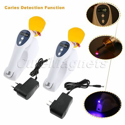 2 Colour Lights 1200-2000mw/cm² Dental LED Curing Light Lamp Wireless US/EU Plug