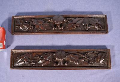 French Antique Black Forest Drawer Fronts/Panels in Oak Wood